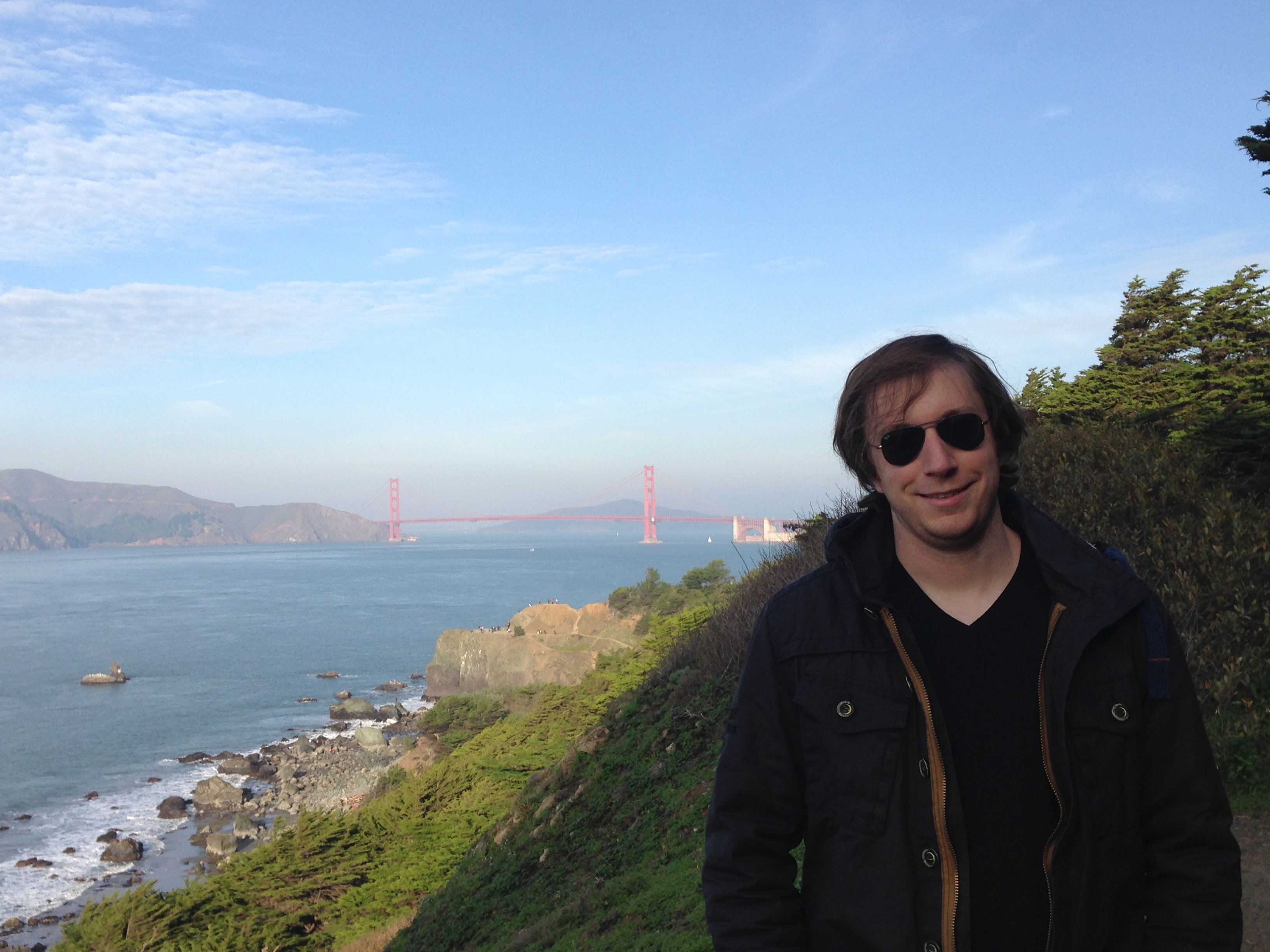 Picture of me standing in front of San Francisco Bay